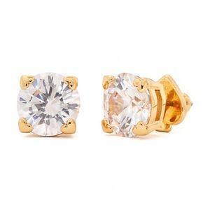 KATE SPADE Brilliant Crystal Clear Heart Earrings